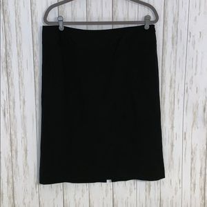 Size 12 Banana Republic Stretch Black Wool Skirt